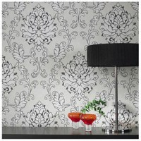 Graham & Brown Heritage Charcoal Wallpaper by ECO - 18558 - Decor