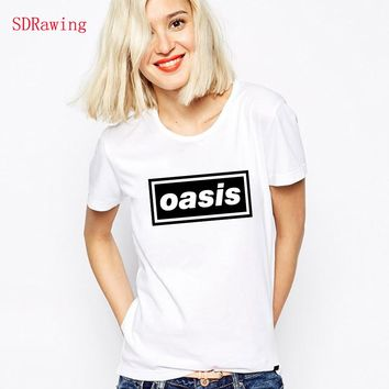 OASIS brand t shirts top tees t shirts music liam noel gallagher tour band concert tock t shirts Tees cotton t Shirt Unisex