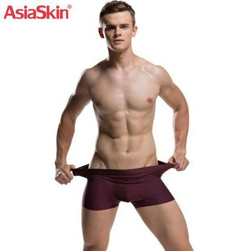 ac NOOW2 2017 Mens Ultra-thin Seamless Underwear Boxers Solid Fashion Slip Homme Ice Silk Boxer Sexy Transparent Cuecas Boxer Breathable