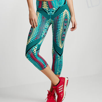 LLD Wild Geo Print Crop Leggings