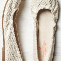 AEO Women's Crocheted Ballet Flat