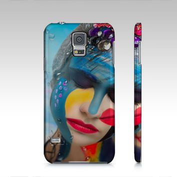 Body Paint Art Lady Emotion Samsung S5 Cover