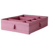 SKUBB Box with compartments - pink - IKEA