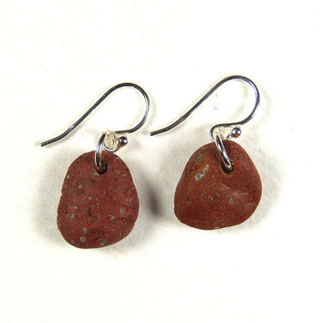 Terracotta Beach Pebble Earrings