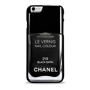 Black Chanel Nail Polish Unique Iphone 6 Plus Cases
