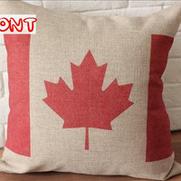 Throw Pillow Cover / Canada Flag Design Decorative by soul8soul