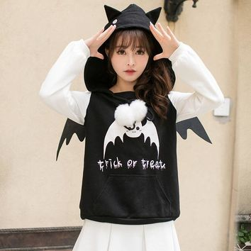 Princess sweet lolita Hoodies Candy rain in the winter of Japanese sweet printed long sleeved Hooded loose all-match  C22CD7253