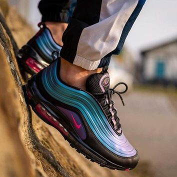 ROSEPARK Nike Air Max 97 LX Aurora Laser Gradual Air Cushion Running Shoes