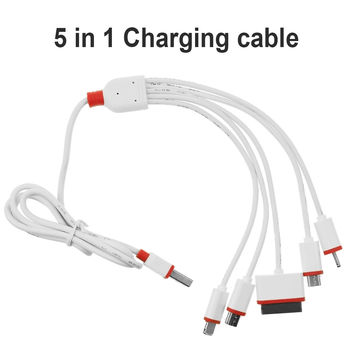 Universal Portable USB 5 in 1 Charge Cable Multi Charger Cable for HTC Samsung Sony Xiaomi Huawei Nokia iphone 4 4s 5 5s 6