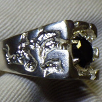 Certified Mens Black Diamond Ring 1.82 Carats Appraised at 1,525.00 Nugget