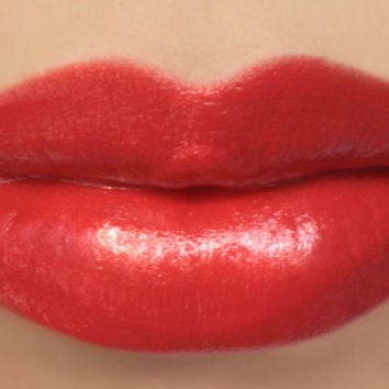 "Red Orange Lipstick Sample - ""Clementine"" (bright red orange lipstick) natural lip tint, balm, lip colour mineral lipstick"