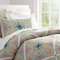 Penelope Organic Duvet Cover & Sham - Twilight Blue
