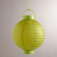 Green Battery-Operated Paper Lanterns, Set of 4 - World Market
