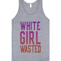 White Girl Wasted (Pink Wash Out Tank)-Unisex Athletic Grey Tank