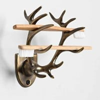 4040 Locust Antler Toothbrush Holder- Bronze One