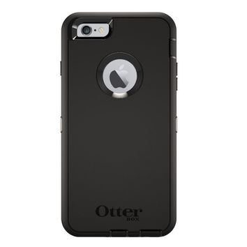 OtterBox Defender Series Ruggered Protection Case For iPhone 6 Plus Only Black 77-51470