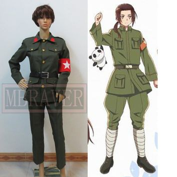 POLITICAL COSPLAY:  China Red Guard Dress Greens Military Uniform.