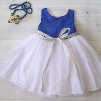 Royal Blue Flower Girl's dress, Flower girl's dress,  girl's formal dress, toddler dress, party dress, Birthday dress