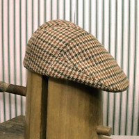 Mens winter multicolor woolen tweed flat cap golf hat