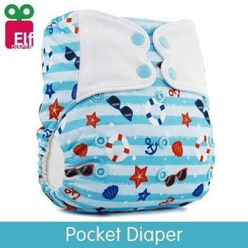 Elfdiaper New! Pocket Stay Dry Diaper Nappy Swimming Pant Washable Reusable Newborn Cloth Baby Diaper