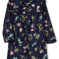Floral ruffle shirtdress | Gap