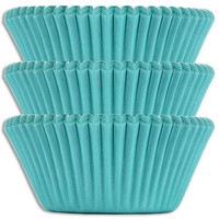 Solid Turquoise Baking Cups