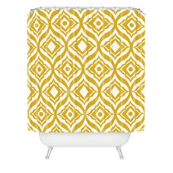Heather Dutton Trevino Yellow Shower Curtain