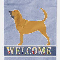 Bloodhound Welcome Flag Canvas House Size BB5488CHF