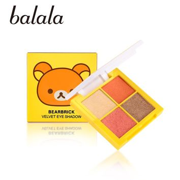 BALALA Bearbrick Velvet Eye Shadow Palette Eye Makup Eye Shadow Super Stage Fit Palette Cosmetic Makeup Set Nude Eye Shadow