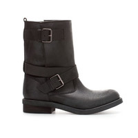LEATHER BIKER MID - CUT BOOT - Boots and ankle boots - Shoes - TRF | ZARA United Kingdom