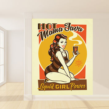 Anderson Design Group's Hot Mama Java Mural wall decal