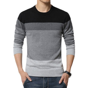 Casual Striped Slim Fit Knitted Sweater