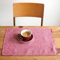 Linen Placemat Red/Whi