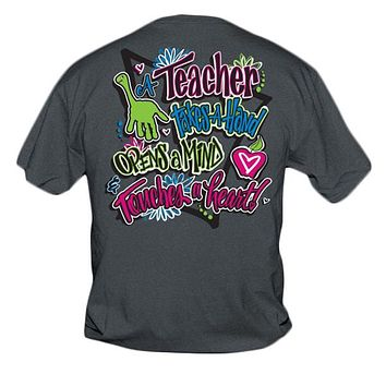 Sweet Thing Funny Teacher Take A Hand Teach Girlie Bright T-Shirt