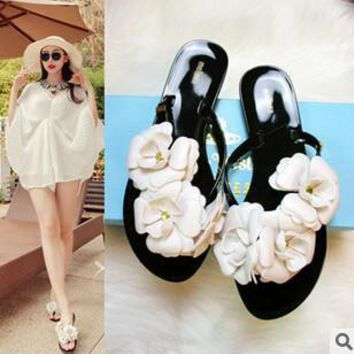 SUMMER STYLE 2015 Summer Slippers New Flip Flops Women Sandals Female Drag Sandals jelly sandals slippers beach flip-flop