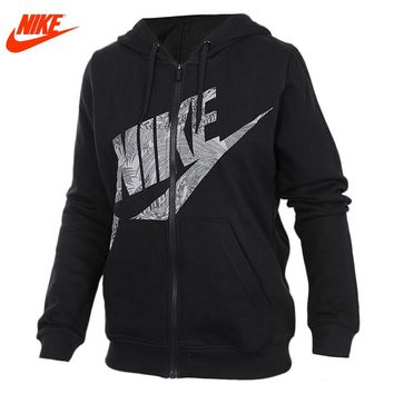 Nike women's spring winter knitted sports Hooded Jacket 872039-010-063