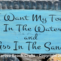 Beautiful Colors, Toes In Water, Beach Decor, Wood Sign, Ocean Colors, Coastal, Nautical, Hanging Sign, Beach, Wood, Reclaimed, Sand