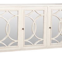 Bedford White Bamboo Credenza