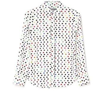 MARCS | Shirts & Blouses - SILK SPOT ROLL SLEEVE SHIRT