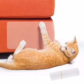 2Pcs/set Pet Cat Large Scratch Guard Mat Cats Scratching Post Furniture Sofa Claw Protector Pads For Upholstery Leather Chairs
