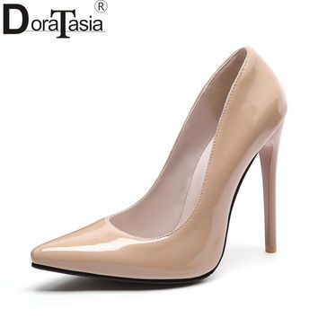 DoraTasia Brand new customized large size 34-48 pointed toe women shoes sexy thin high heels office lady party wedding pumps