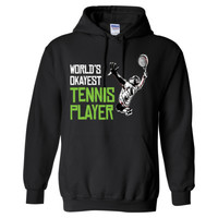 WORLD'S OKAYEST TENNIS PLAYER - Heavy Blend™ Hooded Sweatshirt