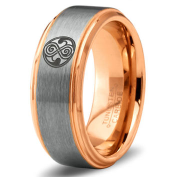 Dr Who Ring Doctor Time Lord Design Gallifrey Symbol Ring Mens Fanatic Geek Sci Fi Jewelry Boys Girl Womens Ring Mens Christmas Gift Holiday