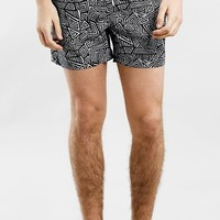Men's Topman Geometric Print Swim Trunks