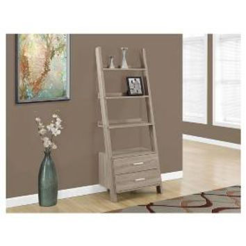 Bookcase with Storage and Ladder - Dark Taupe - EveryRoom