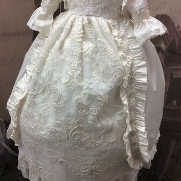 """""""William and Kate"""" christening gown-heirloom baptism-royal christening gown"""