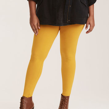 Marigold Yellow Full Length Premium Leggings