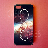 Infinity Iphone 5 Case - Iphone 5 Covers - Forever Love Galaxy - Rubber Iphone Cases - Cute Unique Designer Protective Cases for Iphone