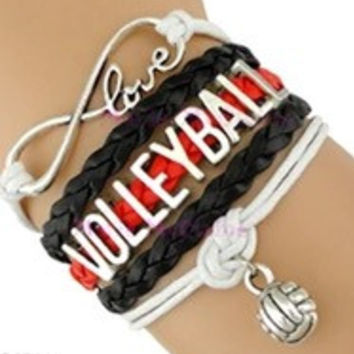 Volleyball Bracelet - Red/Black