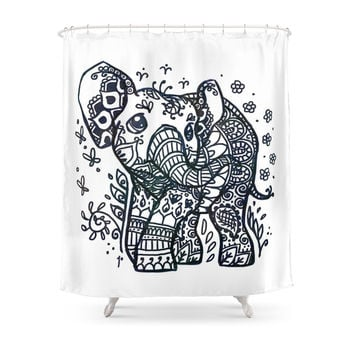 Society6 Elephant Shower Curtain